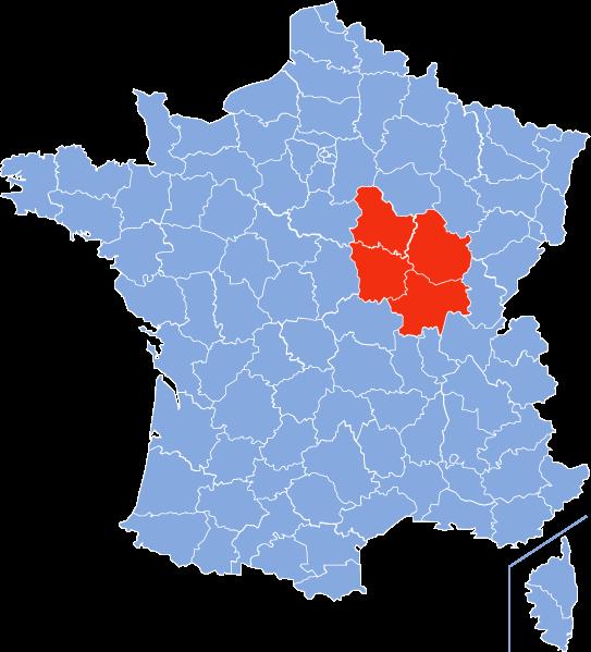 Bourgogne (Cote d'Or (21) - Nievre (58) - Yonne (89) - Saone et Loire (71)